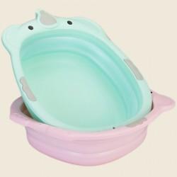 Baignoire bébé pliante compacte, rangement facile